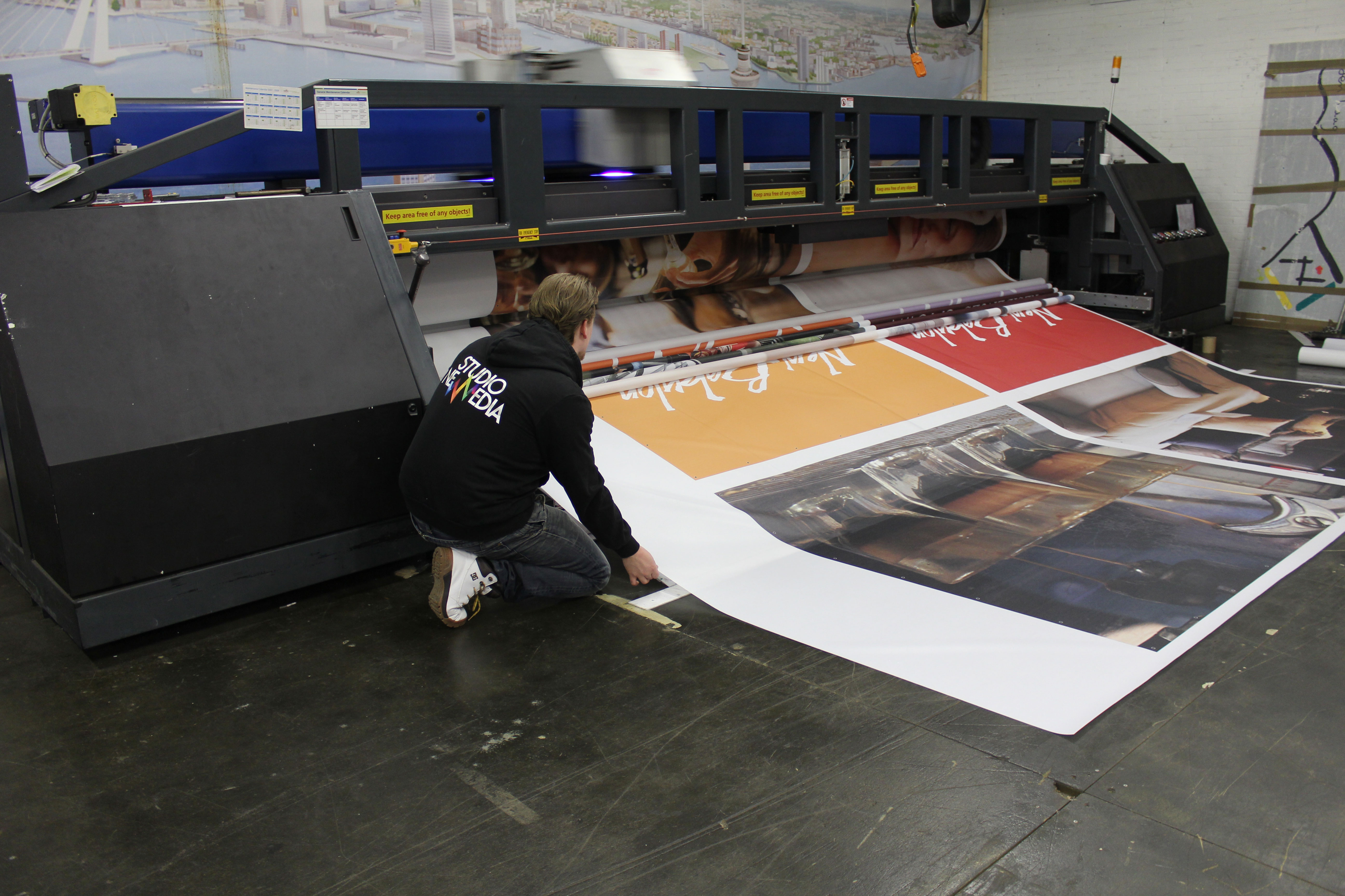Maga posters papier 2,55m rolbreedte